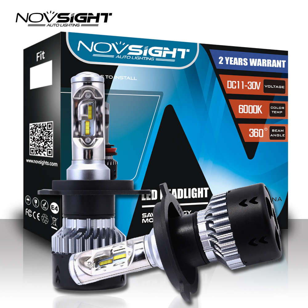Novsight 12V H1 <font><b>Led</b></font> H7 <font><b>led</b></font> <font><b>H4</b></font> H11 H8 Car Headlight Bulbs <font><b>10000LM</b></font> Auto 9005 HB3 9006 HB4 Automobiles Headlamp Fog Light Bulb image