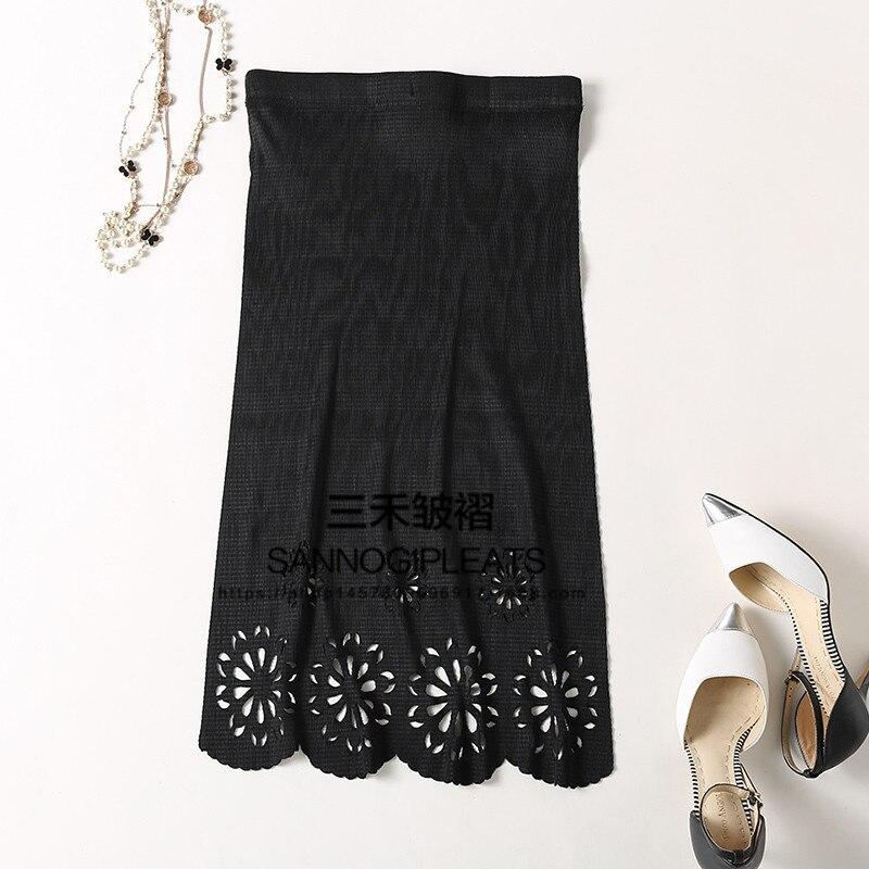 Nueva gris Oscuro Hueco Femenina La azul Gratis Miyake Plisada Puro Plisados Negro Faldas Falda Pliegue Envío Delgado Z5nccqaW