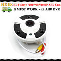 HKES 360 Degree View CCTV AHD Camera 1MP 2MP Analog HD Fisheye Lens Panorama 720P 1080P Security AHD Camera Lens 1.7mm