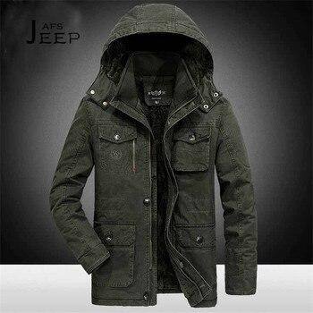 JI PU 6xl/7xl/8xl Plus Size Hooded Winter Parkas Solid Miliar Cotton Coat 2017 winter Male Field Working Warm Motorcycle coat