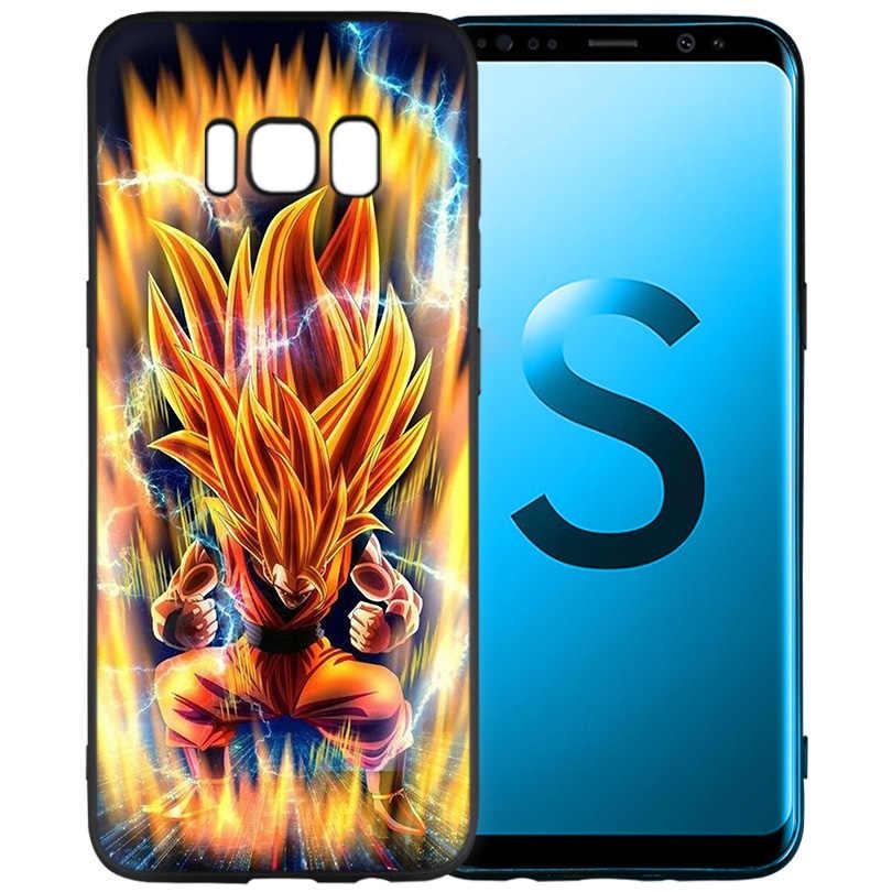 Dragon Ball Z Siêu DBZ Goku Đen Silicone Dẻo Vỏ Coque dành cho Samsung Galaxy Samsung Galaxy S9 S8 S10 Plus s7 S6 Edge S9 + S8 + S10 +