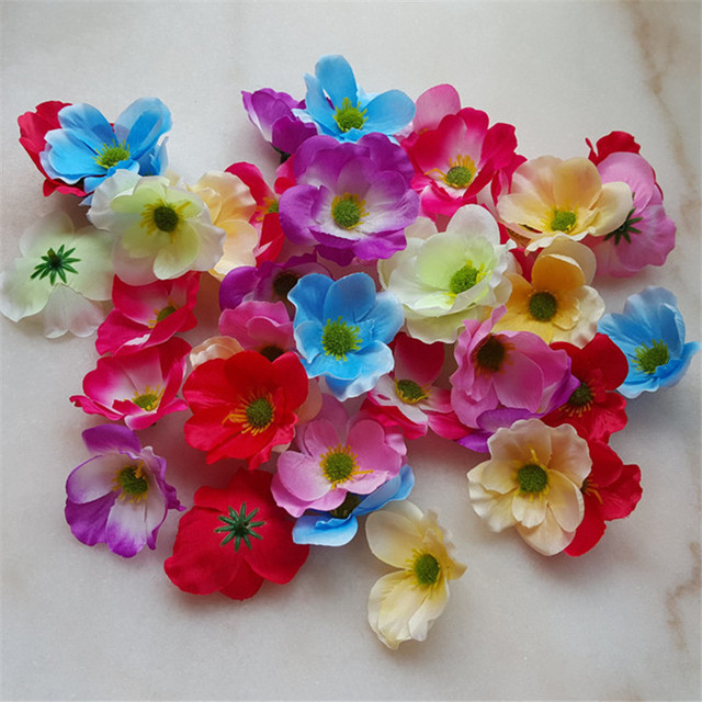 10pcs poppy artificial flowers head 7cm silk cherry blossoms flower 10pcs poppy artificial flowers head 7cm silk cherry blossoms flower for home wedding decoration diy wreath mightylinksfo
