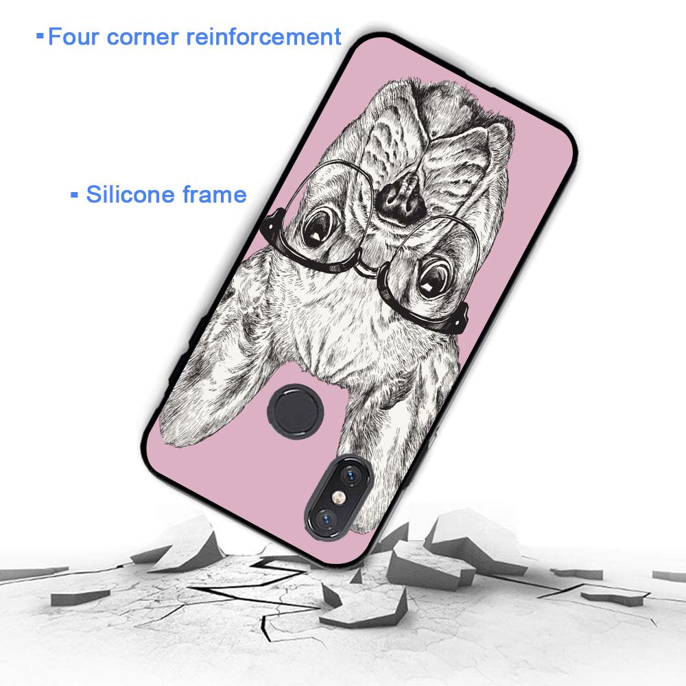 YIMAOC french bulldog puppies dog cute Soft Case for Xiaomi Mi5 Mi5S Mi6 Mi9 Mi8 Lite SE A1 A2 Lite Pocophone F1 MAX 3 in Fitted Cases from Cellphones Telecommunications
