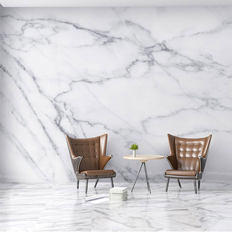 8d Grey Texture White Marble 3d Stone Wallpaper Papel