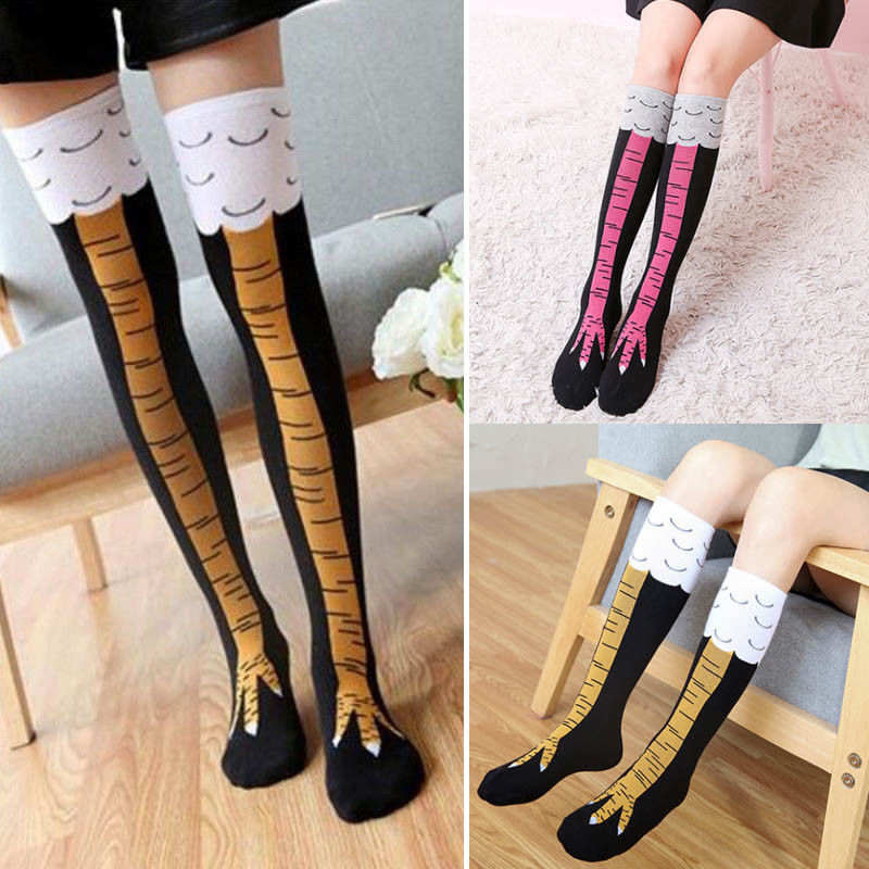 3D Paw Printing Girls Ladies Women Thigh High Over Knee Stockings Long Cotton Stocking Leg Warmers
