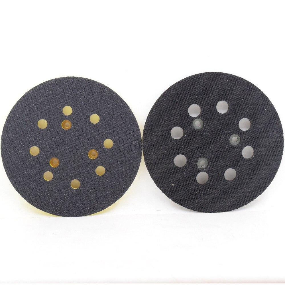 8 Holes Backing Disc Sanding Pads Hook Loop For Makita BO5041 Orbit Sander Part