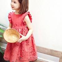 Toddler Floral Dress 2017 New Girls Lace Summer Dress Kids Fashion Sundress Baby Sleeveless Dress Children