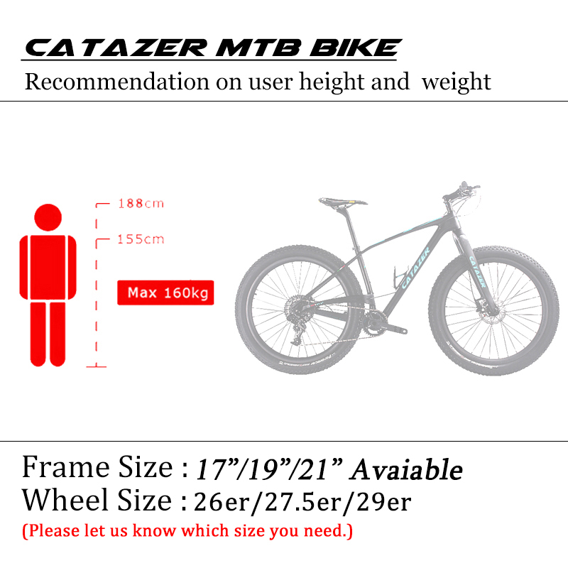 HTB1IB8Rao rK1Rjy0Fcq6zEvVXaR - CATAZER Carbon Mountain Bike 29 Disc Brake MTB Bicycle Frame 22 Speeds Cycle With SHIMAN0 M8000 Group Set