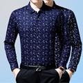 2016 men's Casual argyle Plaid Shirt printed shirt chemise homme Men brand Clothing Business cotton Dress Shirt