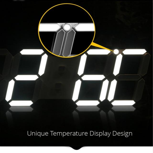Reloj digital de pared con sensor de temperatura