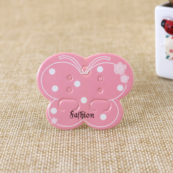 100pcs Jewelry Display Card Packing card tag pink butterfly earrings packaging card size 5*4cm фото