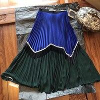Модные юбки женские длинные юбки для леди 2019 Новый Повседневное плиссированная Женская юбка летние