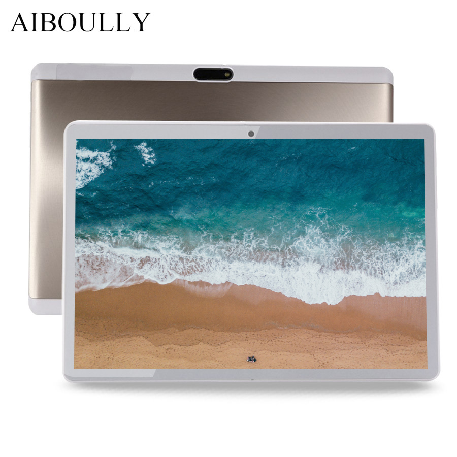 AIBOULLY 10.1 pouces tablette Android originale 3G 4G téléphone appel tablette Android 7 OS Octa Core 4G RAM 64 GB ROM 1920x1200 Tab 9.7''