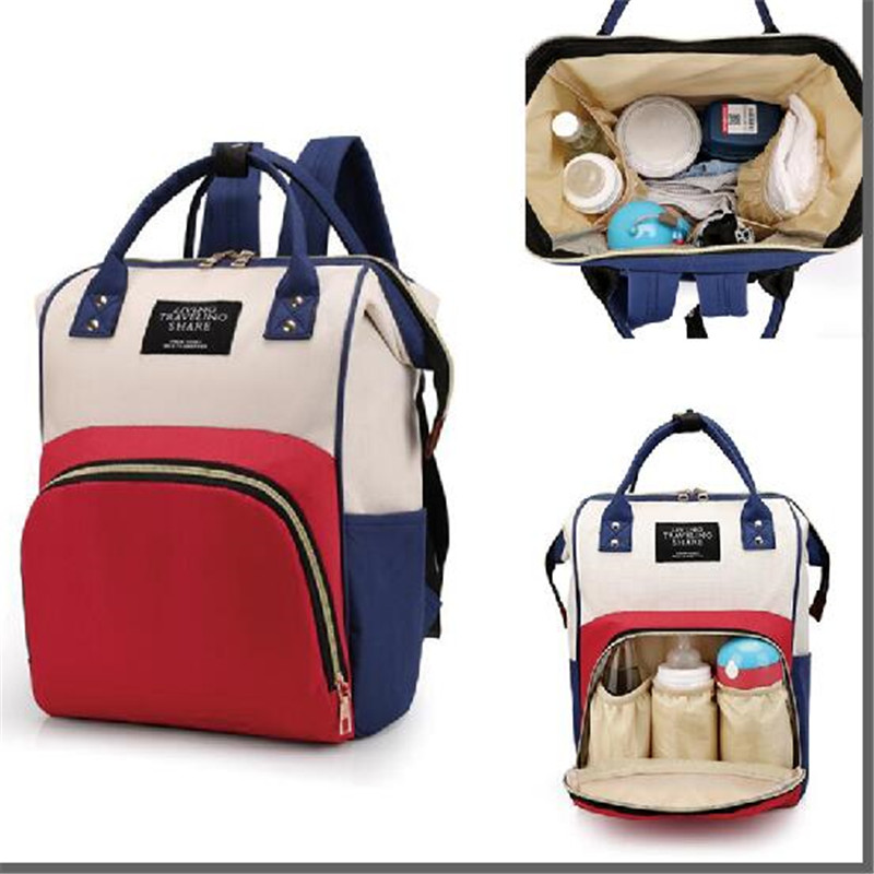 Multi Function Mummy Maternity Nappy Bag Fashion Patchwork Large Capacity Baby Bag Travel Backpack Nursing Bag for Mom Designer-in Diaper Bags from Mother & Kids