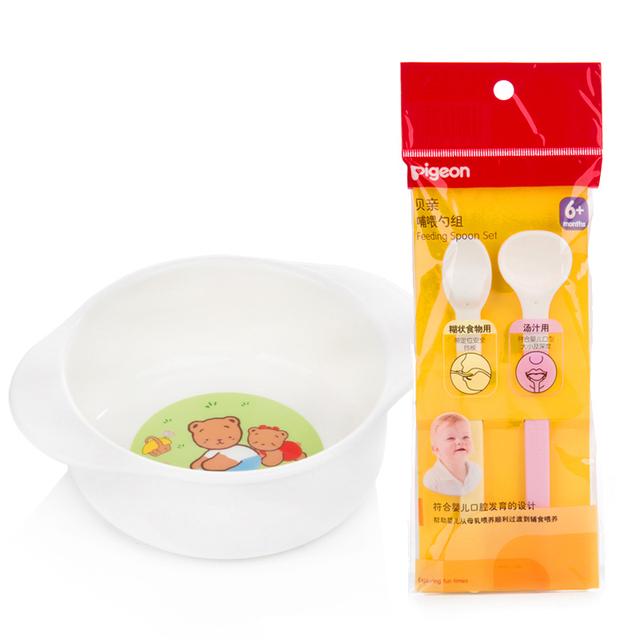 Recipientes De Armazenamento De Placa de Jantar do bebê Que Come Set Placemats Bebês Equipamentos 50R019 Contenedor Crianças Colher Conjunto Bacia de Alimentação Do Bebê