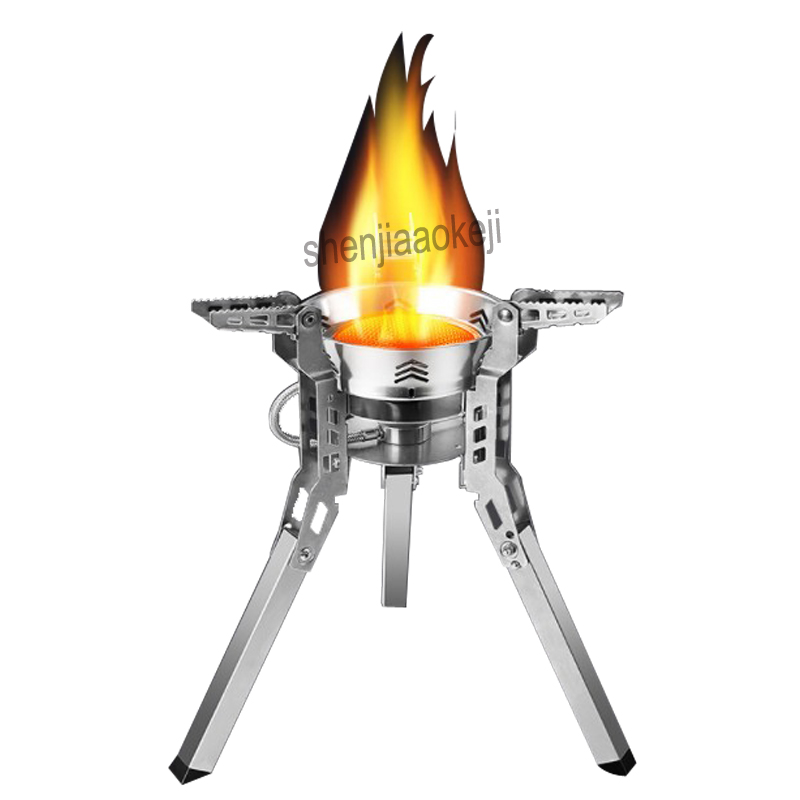 1pc Field Portable gas stove Outdoor Stove Camping Equipment Hiking Picnic Foldable Expandable Split Gas Burners Stove 2018 new hot practical portable outdoor picnic gas burners foldable out door camping mini steel stove case