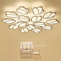 Modern Acrylic Living Room Light Fixtures Bedroom Restaurant LED Dimme Lighting Chandelier Ceiling Luminaire AC110 260