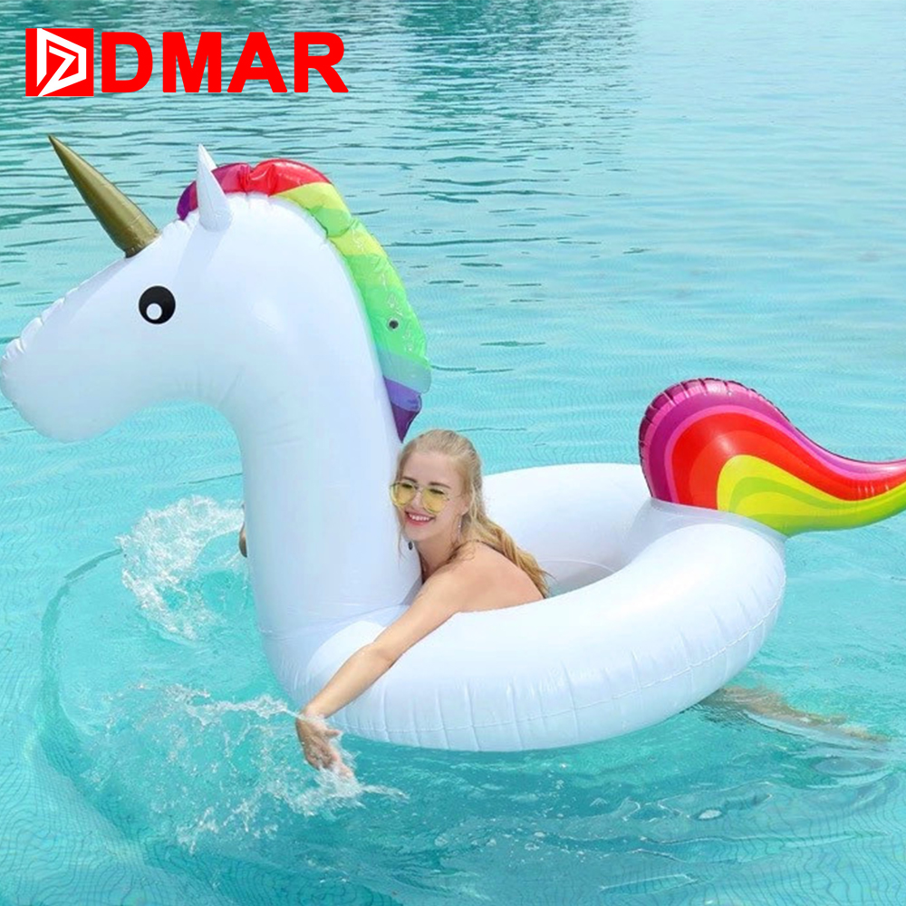DMAR Inflatable Unicorn Swimming Ring Giant Pool Float Mattress Mat Swimming Circle for Adult Beach Summer Water Game Party Toy заточной станок kolner kbg 150 250m