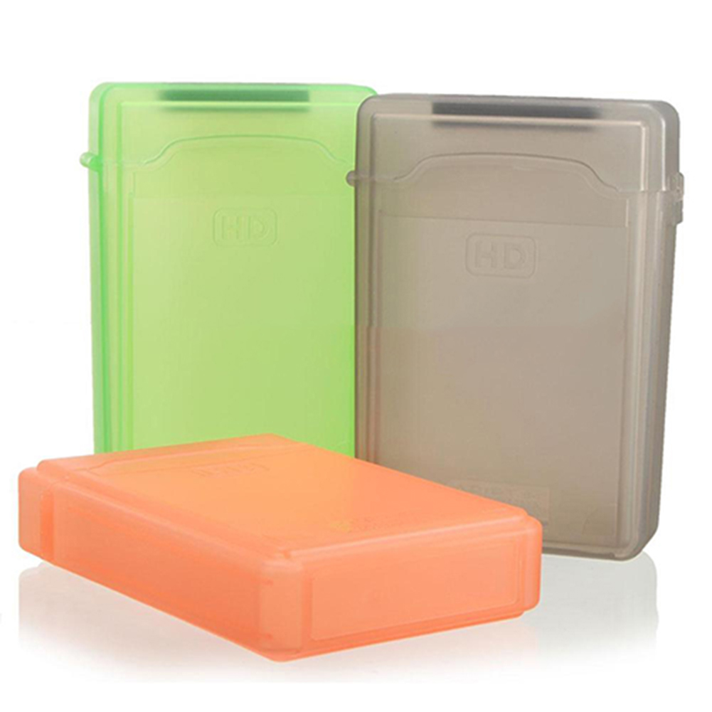 3.5 Inch Dust Proof Plastic IDE SATA HDD Hard Drive Disk Storage Box Case Cover Hard Disk Case