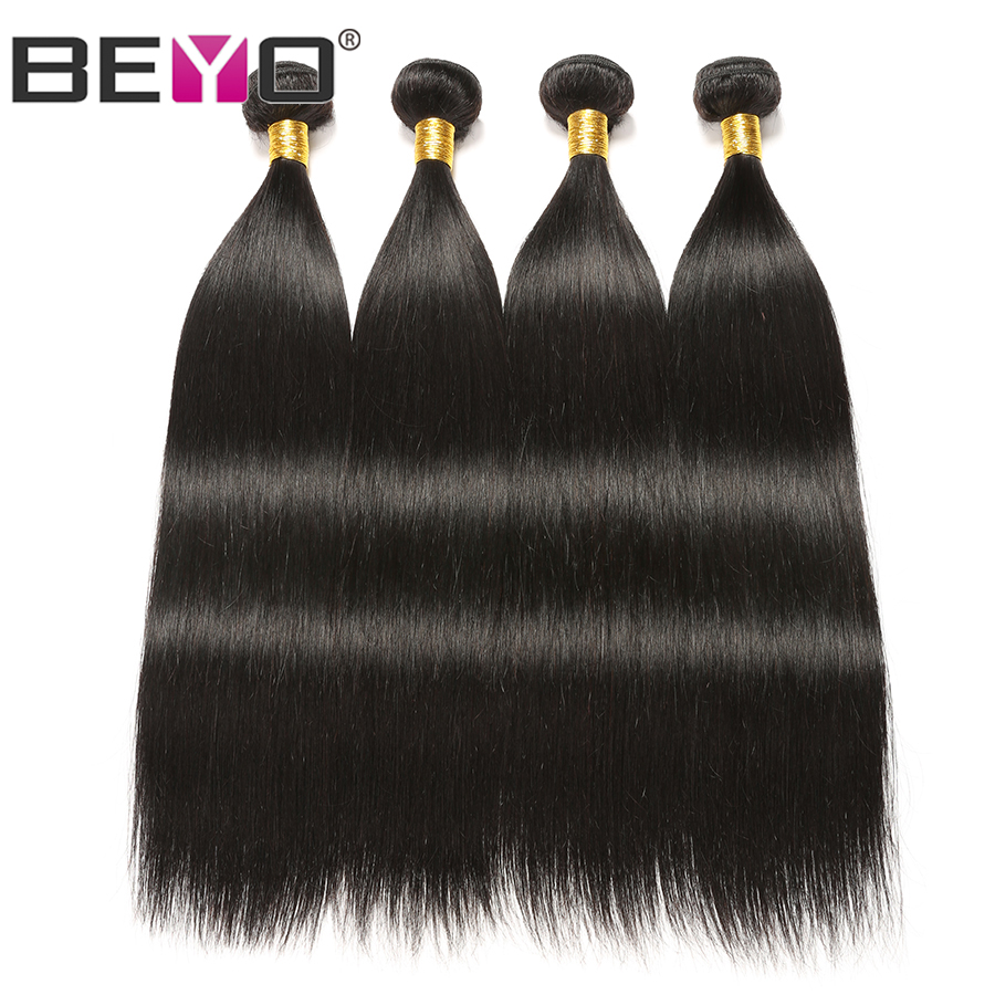 Brazilian Hair Weave Bundles Straight Hair Bundles 100 Human Hair 4 Bundle Deals Natural Color Non