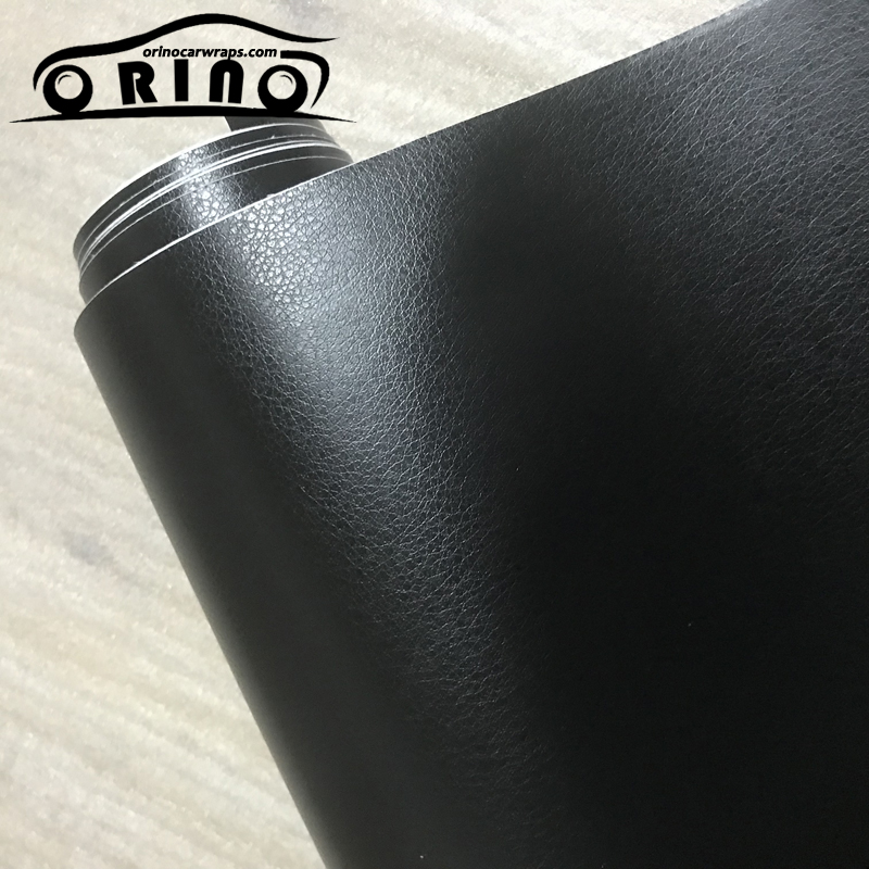 3D PVC DIY Car Styling Interior Dashboard Sticker Black Leather Texture Trim Vinyl Wrap Sheet Film Sticker 10/20/30/40/50X152CM-in Car Stickers from Automobiles & Motorcycles
