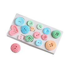 Силиконовые кнопки формы для выпечки Плесень DIY помадка шоколадное печенье силиконовая форма для льда Форма для сладостей для выпечки инструменты для украшения выпечки, торта