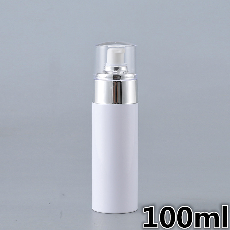 30pcs 100 120 150ml empty white plastic facial lotion pump spray bottle high quality with
