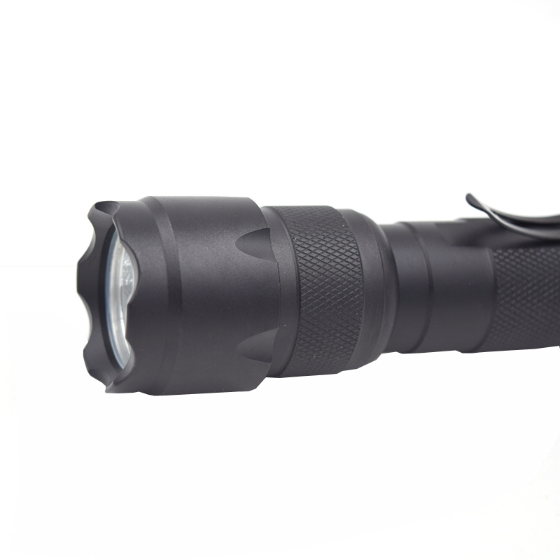 Tactical Flashlight 1 mode 2000 lumens For Outdoor Fishing Camping led Lights and 18650 battery + us/eu charger rail accessories