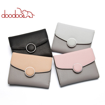 Fashion Women Leather Wallet Clutch Purse Lady Short Handbag Bag Slim Mini Small Clutch Female New Purse Coin purses holders