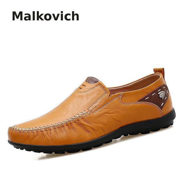 Moccasin Homme En Cuir Nouveauté Mode Chaussure Poids Léger Qualité Supérieure Moccasins Plus De Couleur Confortable meilleur 38-46 OKVJHK