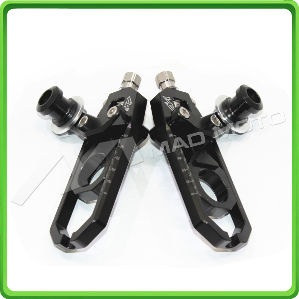 Motorcycle Chain Tensioner Adjuster with spool kit for Yamaha FZ1 2006 2007 2008 2009 2010 2011 2012 2013 2014 2015 Black mad moto high quality motorcycle chain adjuster with paddock bobbin fit for aprilia rsv4 2009 2010 2012 2013 2014 red black