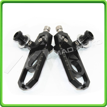 Motorcycle Chain Tensioner Adjuster with spool kit for Yamaha FZ1 2006 2007 2008 2009 2010 2011 2012 2013 2014 2015 Black