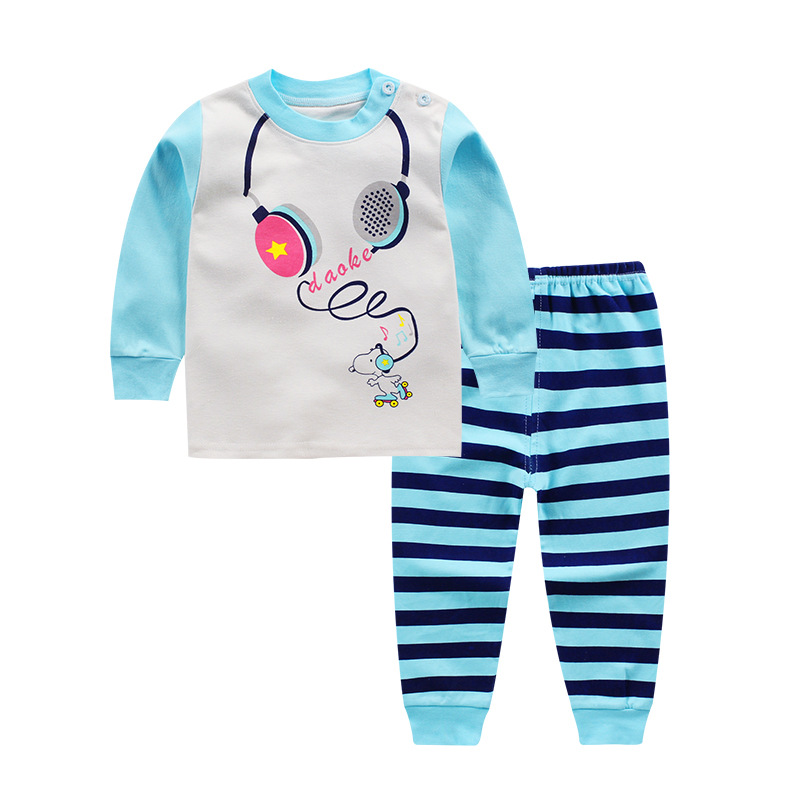 Luna Blanco Baby And Child Clothing Suit Cotton O-neck Baby's Sets New Arrive Autumn Boy And Girl Pullover Printed Baby Sets