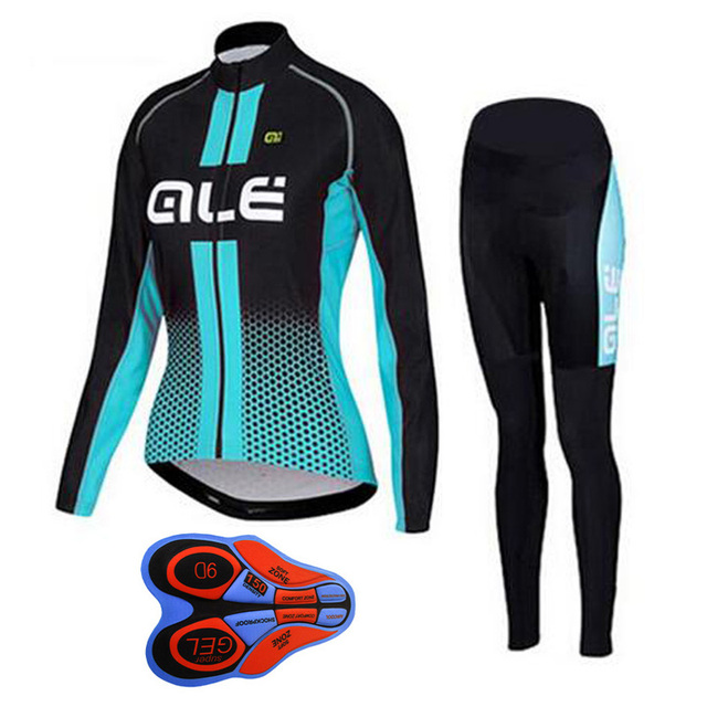 3d512646d Pro team ALE Cycling Jersey Bicycle women s cycling clothing mtb maillot  Ropa Ciclismo mujer Long Sleeve racing bike clothes