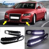 smRKE For Audi A4 2009 2011 LED DRL Daytime Running Lights White Driving Light Waterproof Car Styling Light Source