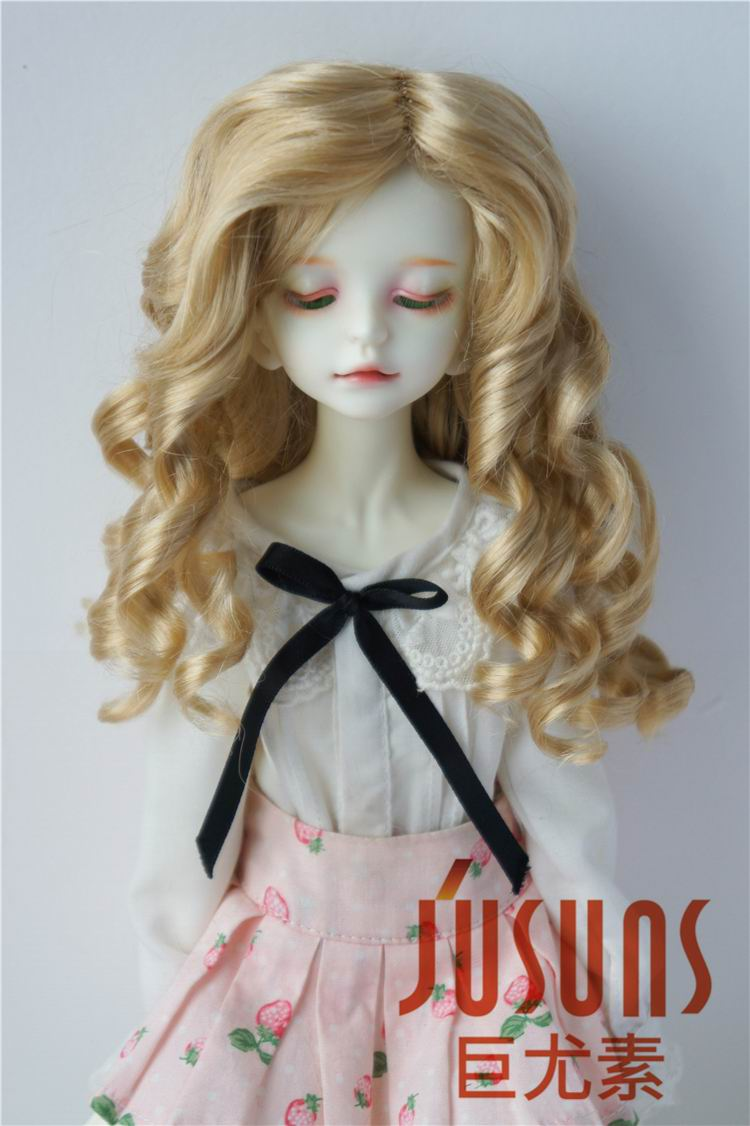 JD259 1/6 1/4 1/3 YOSD MSD SD Fashion BJD doll wigs size 6-7inc 7-8inch 8-9inch Lady roll BJD Synthetic mohair wig jd031 1 8 1 6 1 4 long curly wig 5 6inch 6 7inch and 7 8inch synthetic mohair wig for bjd doll yosd msd doll accessories