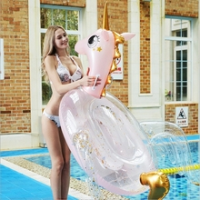 Transparent Pegasus Unicorn Inflatable Ride-on adult Pool Floats Swimming Mattress Giant float Circle unicorn buoy water toys new giant pool float shell inflatable swimming float for adult kid funny aquatic toys ride on air mattress summer swim life buoy