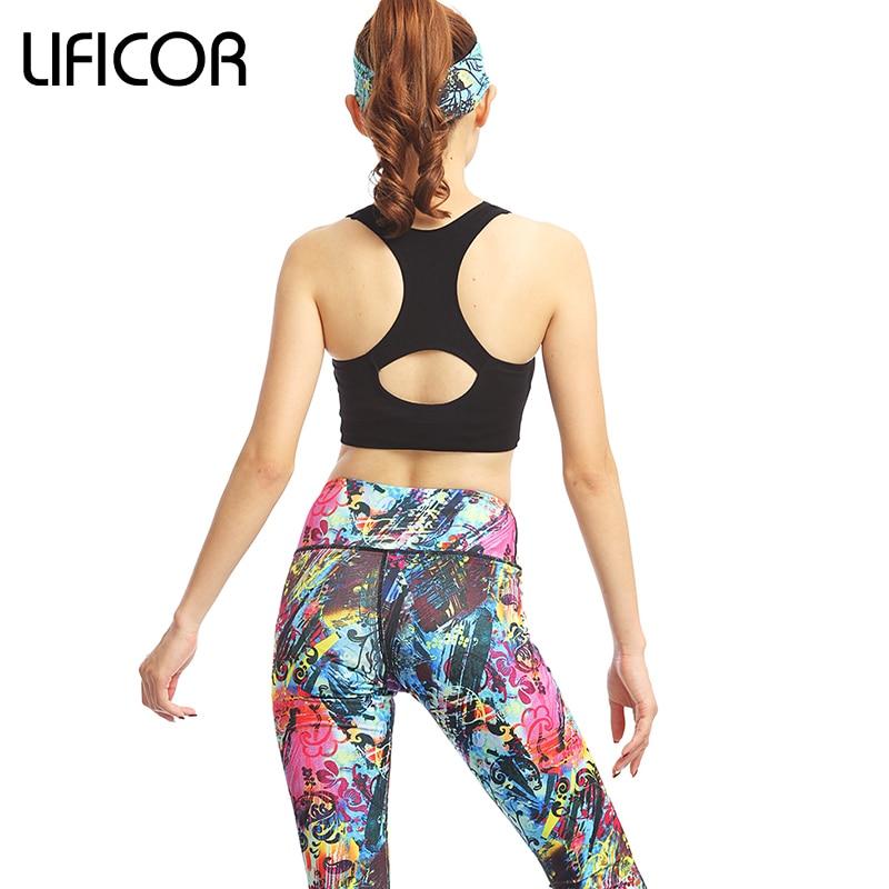 Vrouwen Yoga Sport Sets Gym Workout Sportkleding Pak Elastisch - Sportkleding en accessoires - Foto 2