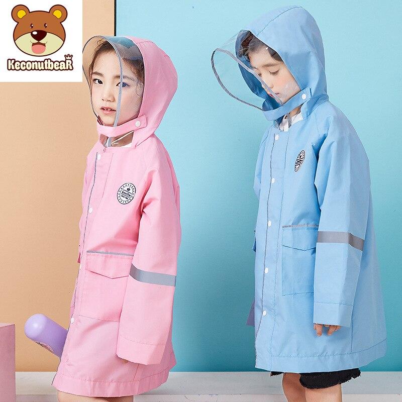 Height 90 170 cm waterproof raincoat for children kids baby rain coat boys girls middle school students rain poncho jacket in Raincoats from Home Garden