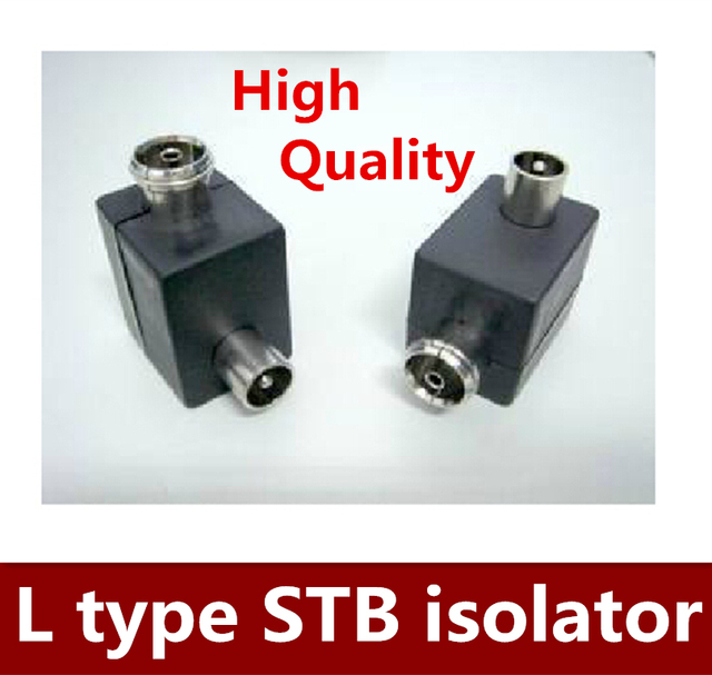 10PCS/LOT Antenna / STB isolator L type RF head male to female-in ...