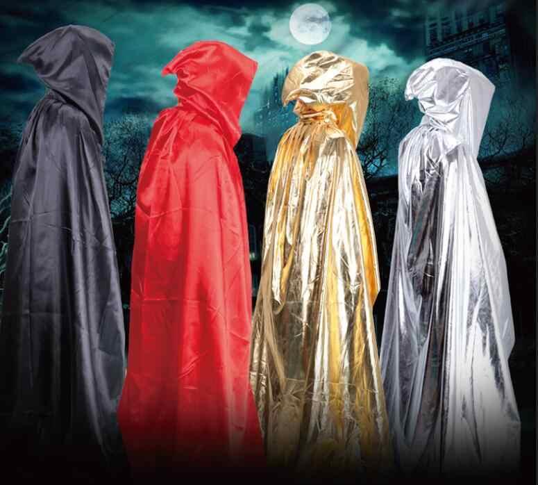 יוניסקס קוספליי מות Hoody גלימת ערפד מכשפה גותית קייפ ליל כל הקדושים פנטזיה פנסי קרנבל תחפושות ליל כל הקדושים לגברים נשים