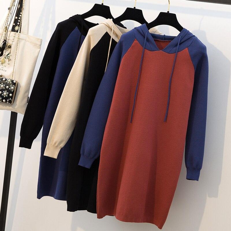 Grande taille femmes gros mm chandail automne et hiver robe coréenne micro réduction de graisse âge chandail tricoté