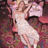 EASYSMALL женское платье модное пляжное сексуальное с открытой спиной высокого класса Vestidos вечерние уличные платья с высокой талией без рукаво
