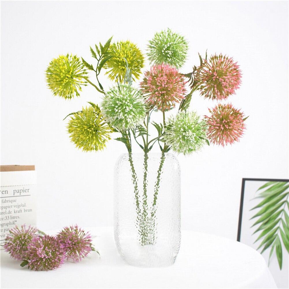 3 pièces/ensemble Simulation plante verte artificielle pissenlit fleur Bouquet maison jardin décoration faux fleurs pour approvisionnement de fête de mariage