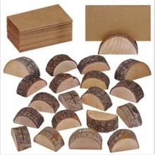 Деревянный Настольный держатель для именных карточек, подставка для пня, Свадебная вечеринка, декоративный знак, деревянный крафт, зажим для меню, карты, принадлежности для декора