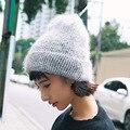 Las mujeres de Invierno de la Cachemira Sombreros Beanie Hat Ladies Knit Sombreros Para Las Mujeres Gorros de Piel De Conejo Suave Y Cómodo Cálido Sombrero