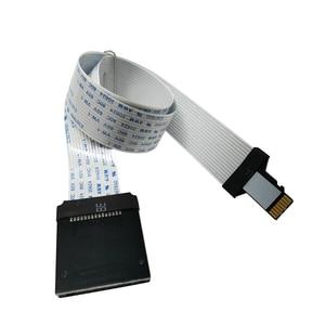 Image 2 - Cable de extensión flexible para tarjeta Micro SD, extensor de adaptador, lector, GPS para coche, teléfono móvil, 10cm, 25cm, 48cm, 62cm, TF