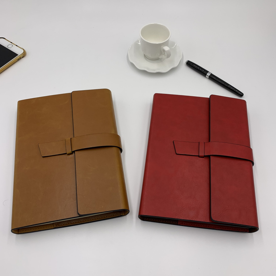 Pu Leather Notebook Hardcover Journal Custom Logo refilled diary planning planner 130 sheets bullet <font><b>100gsm</b></font> <font><b>paper</b></font> A5 dotted image