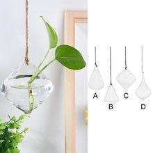 Decoração do casamento criativo pendurado decoração casa jardim pendurado bola de vidro vaso de plantas de flor pote terrário recipiente festa