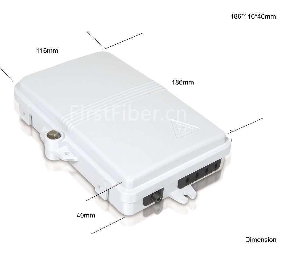 FTTH 4 Core Fiber Optic Termination Box 4 Port Optical Fiber Distribution Box FTTX Fiber Optic Box Splitter Box